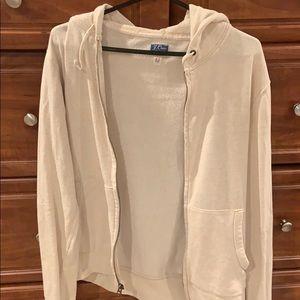 J. Crew Vintage Fleece Zip Up Medium